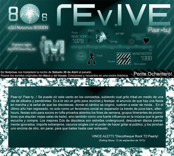 Revive 80s Paar-ty! - Musa Sábado 28 de Abril de 2007