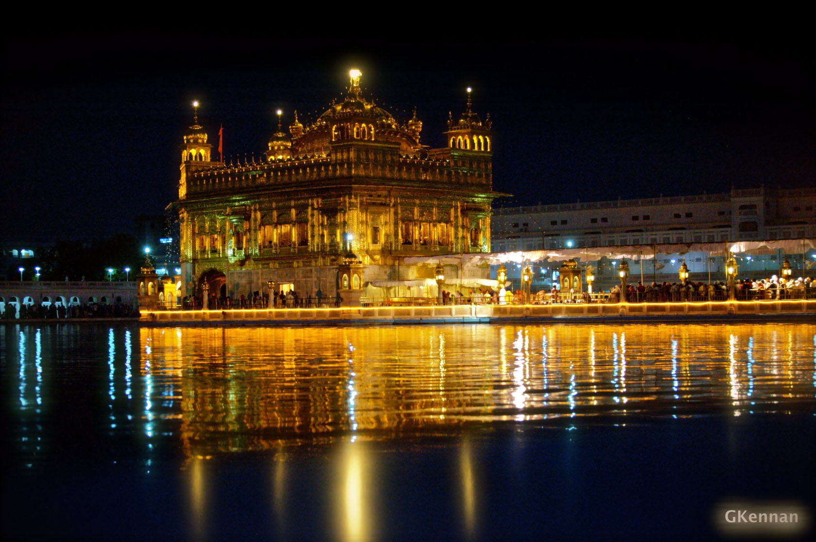 Amritsar y templo de Oro en Punjab