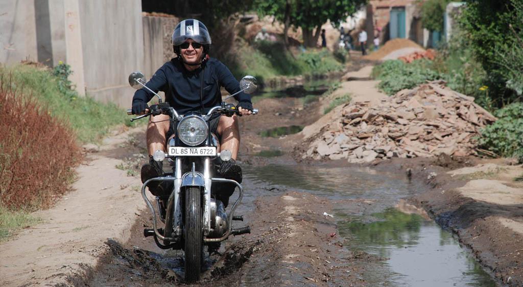 India en moto, Rajasthan con una Royal Enfield
