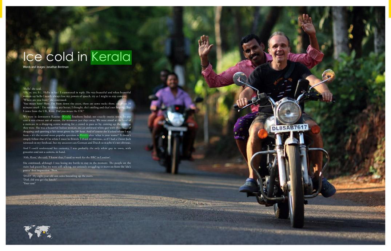 Encuentro en Kerala de dos aventureros de la moto, Jonathan Betman y Daniel González. Traducción del texto de Jonathan publicado en Overland magazine.
