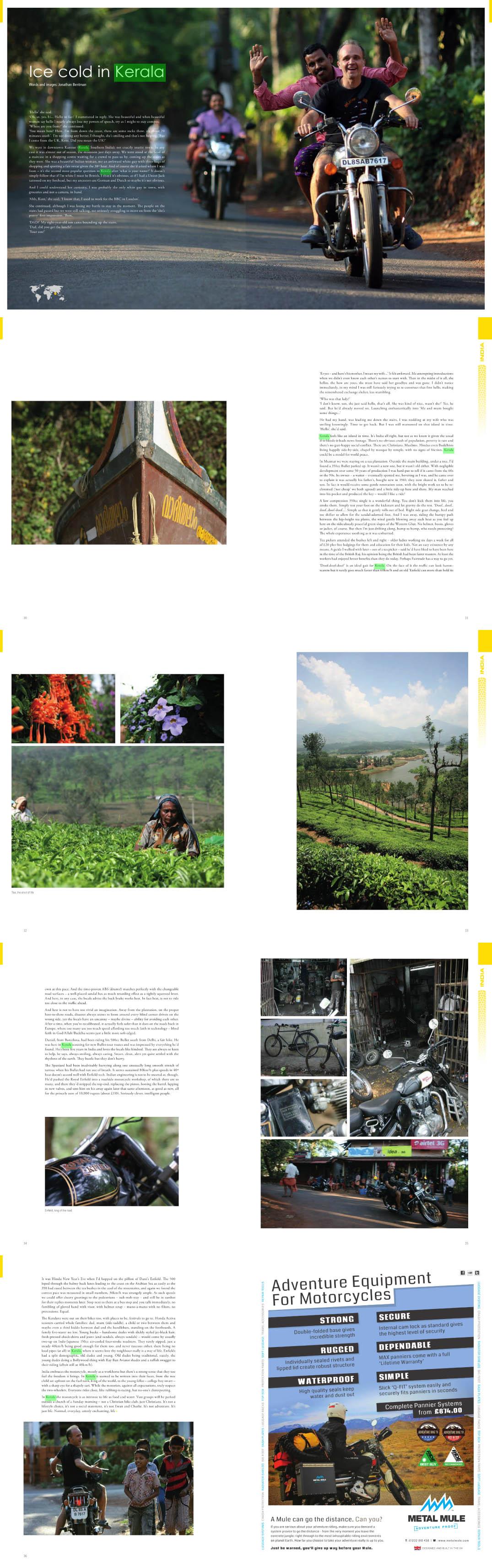 Kerala en moto en Overland Magazine