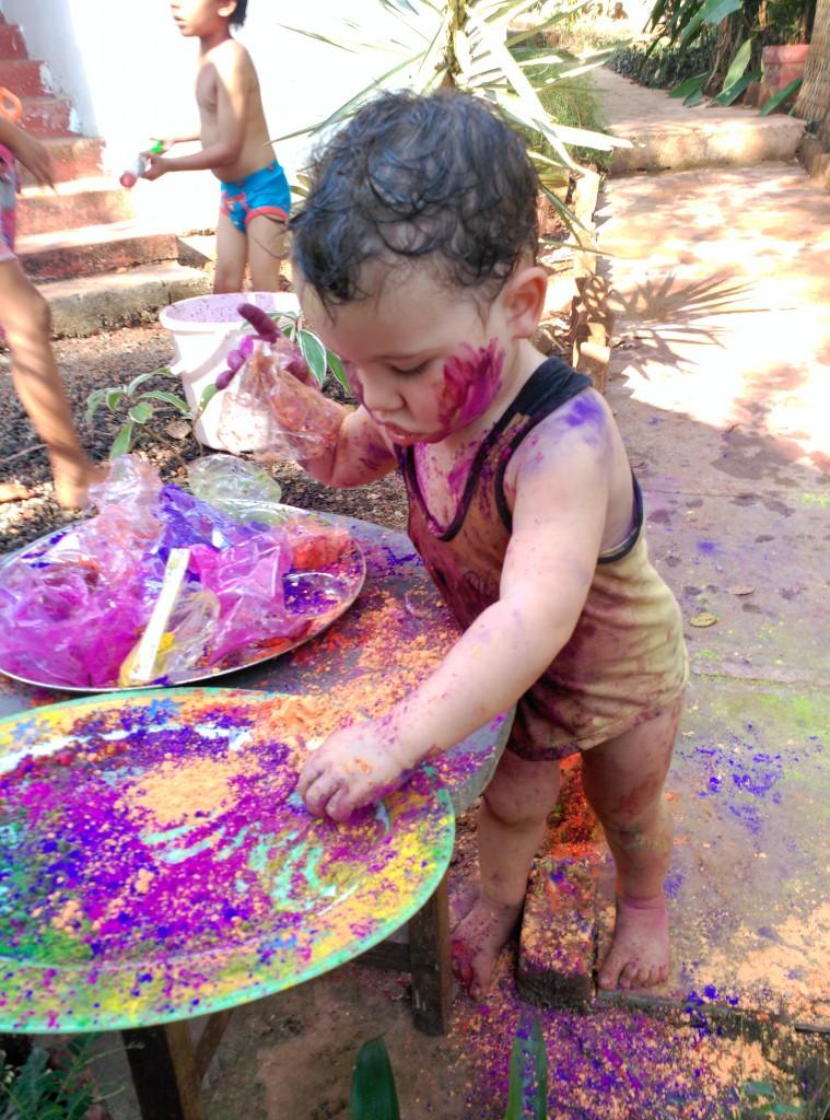 Holi festivfal - Aventura en India