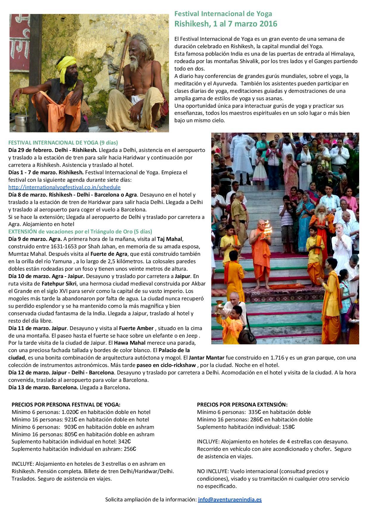 FestivalI nternacional de Yoga en Rishikesh