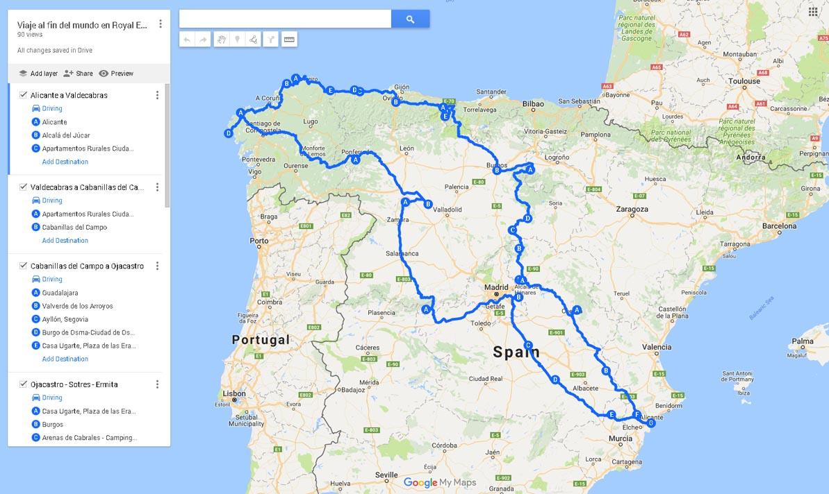 El mapa del viaje al fin de mundo