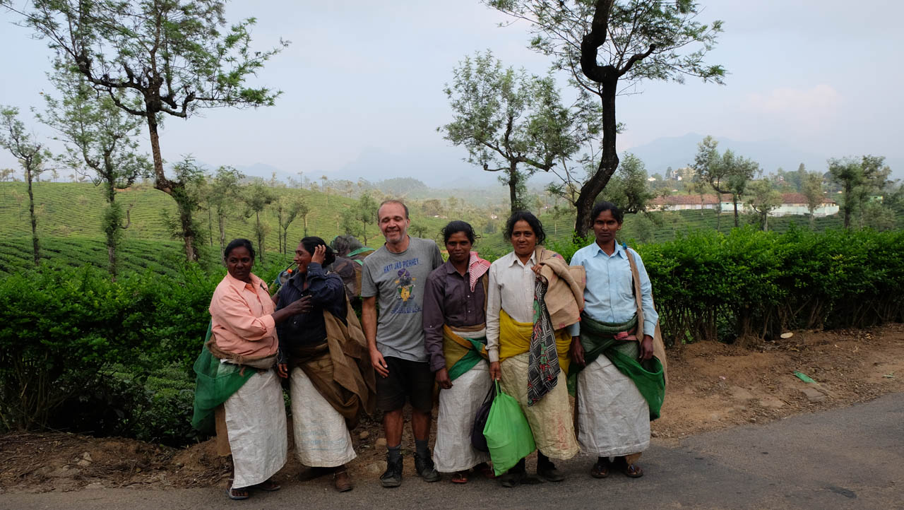 Valparai el jardín de plantaciones de té del sur de India